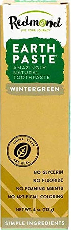 ブルーベルランドリー中海外直送品Redmond RealSalt Natural Organic Flouride Free Toothpaste Wintergreen, Wintergreen 4 OZ