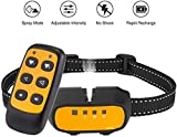 Spray Dog Training Collar - Spray Remote Bark Collar Trainer (Citronella Spray Not Included) 2 Modes 500 Ft Range No Electric Shock Rechargeable Adjustable Waterproof for Small Medium Dogs