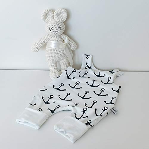 Wende- Strampler Weiß Anker - Weiß Baby Junge von 2 Seiten tragbar