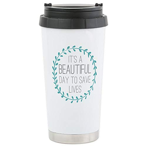 CafePress - Greys Anatomy Its A Bea - Stainless Steel Travel Mug, Insulated 16 oz. Coffee Tumbler by CafePress