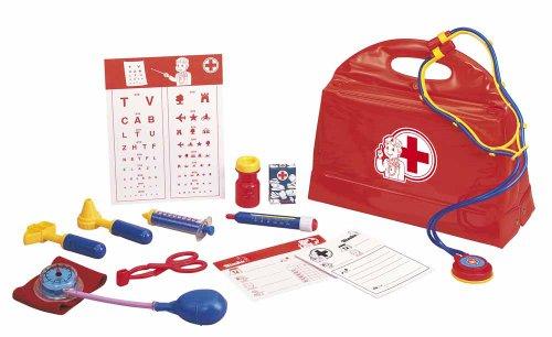 Simba 105545506 - Doktorkoffer, 13-teilig, rot