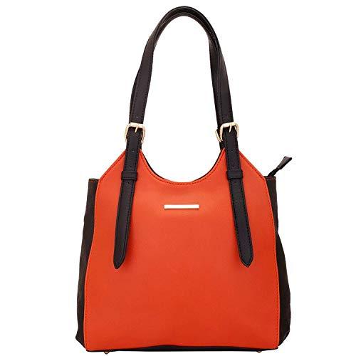 Lapis O Lupo Titian Damen Handtasche Orange Designer Satchel Taschen mit Multi Pocket