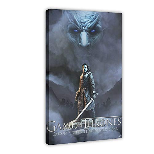 Juego de Tronos Serie de TV Game of Thrones Season 7 - Póster de lienzo para pared (60 x 90 cm)