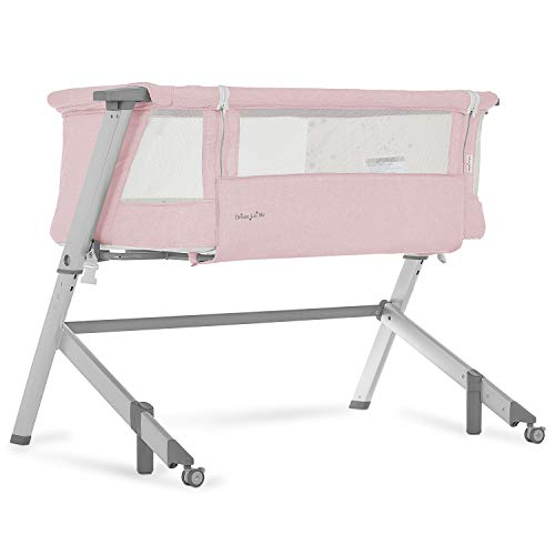 Dream On Me Skylar Bassinet & Bedside Sleeper Pink Crib