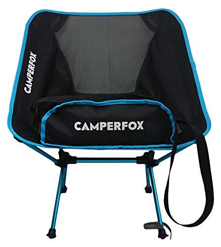 CamperFox® Campingstuhl faltbar mit Tragegurt - hohe Traglast - kompakter Reisebegleiter für Radtouren, Picknick & Outdoor - robust, leicht, kleines Packmaß