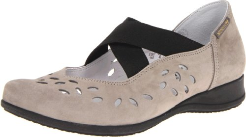 Mephisto Women's Grobina Flat,Light Grey Nubuck,8.5 M US