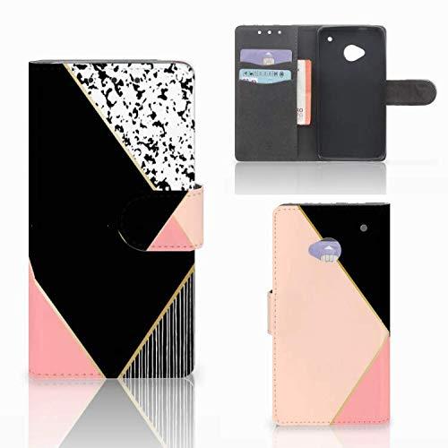 B2Ctelecom Bookcase für das HTC One M7 - Magnetische Kunstleder Handyhülle zum selbst gestalten mit Motiv
