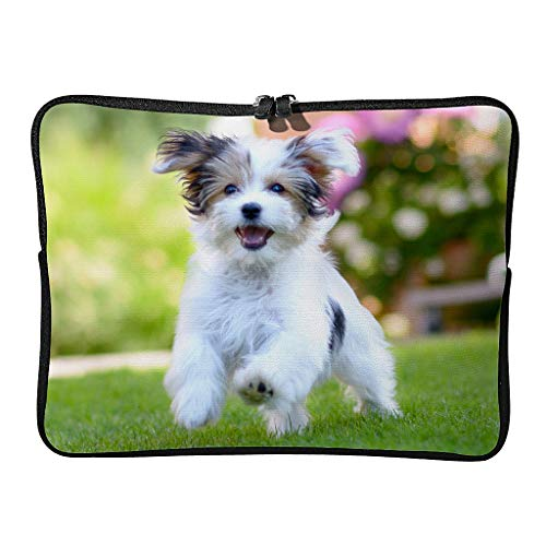 Everyday Yorkshire Terrier Laptop Bags Upgraded Large - Pet Lover Tablet Protector Suitable for Work White 12 Zoll