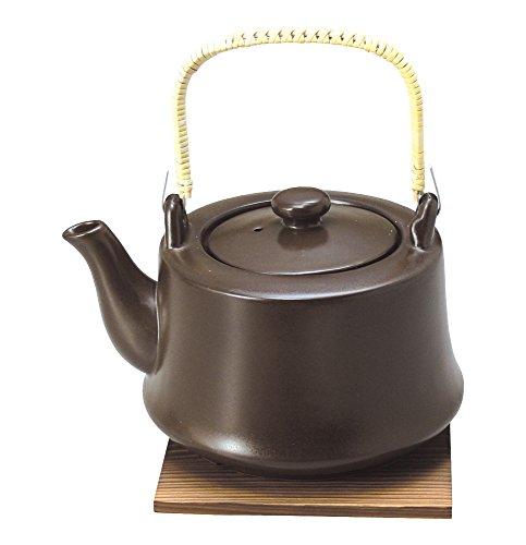 萬古焼 ヘルシー耐熱 土瓶 10号 (敷板付) 茶 0541-5520