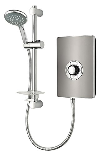 Triton Showers RECOL208GUNMTL Collection II Contemporary Electric Shower, 8.5 KW