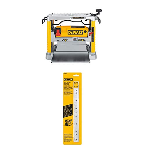 DEWALT DW734 15 Amp 12-1/2-Inch Single Speed Benchtop Planer with DEWALT DW7342 Replaceable Knives for DW734