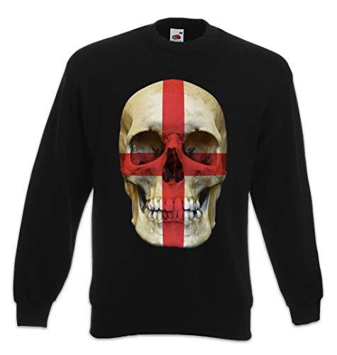 Urban Backwoods Union Jack UK Skull Flag Sweatshirt Pullover Sweater Pull Noir Taille 2XL
