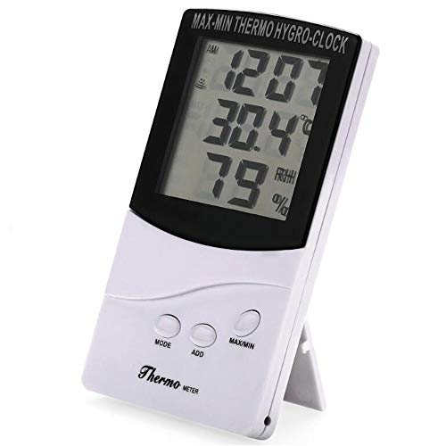 Ecloud Shop® LCD Digital Thermometer Hygrometer Wetterstation Weiß
