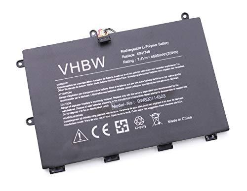 vhbw Batería Recargable Compatible con Lenovo ThinkPad Yoga 11e (20D9A008CD), 11e (20D9A009CD) Notebook (4500 mAh, 7,4 V, polímero de Litio)
