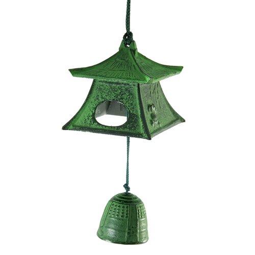 Zen Minded - Campana de viento, diseño japonés (hierro fundido), color verde