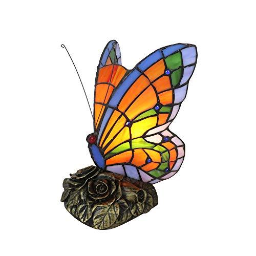 Tokira Tiffany Stil Schmetterling Neben Tischlampe Handgefertigte Glasmalerei Schreibtischlampe Europäischen Kreative Schöne Schlafzimmer Weihnachten Muttertagsgeschenk Nachtlicht