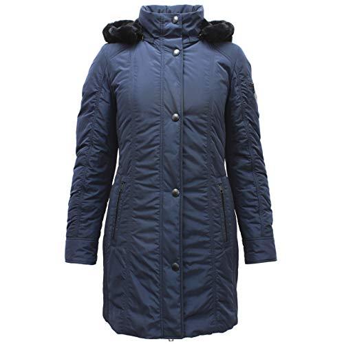 BARBARA LEBEK dames winterjas met imitatiebont Navy blauw - 46