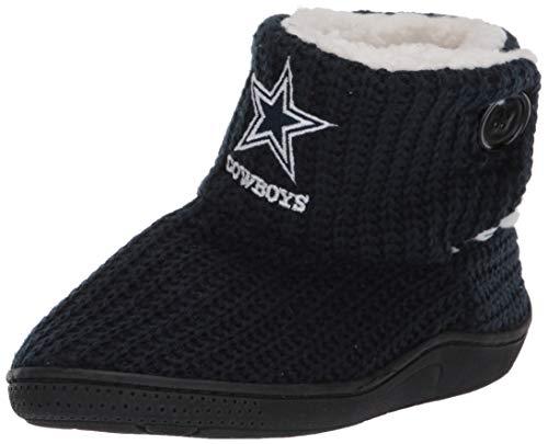 FOCO NFL Dallas Cowboys Womens Knit 2 Button BootKnit 2 Button Boot, Team Color, XL / 11-12