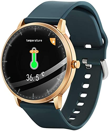 Orologio intelligente a contatto circolare, braccialetto di monitoraggio sportivo, fitness tracker, schermo a colori di controllo della musica chiamata