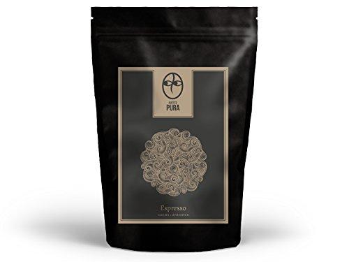 KAFFEE PURA Sidamo Espresso, Bio & fair gehandelter Spitzenkaffee aus Äthiopien (500g gemahlen)