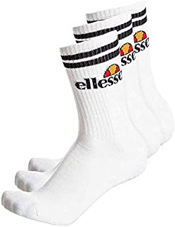 Homme Ellesse Blanc Sport Chaussettes 1 Pack De 5 Paires Taille UK 6-8 1//2