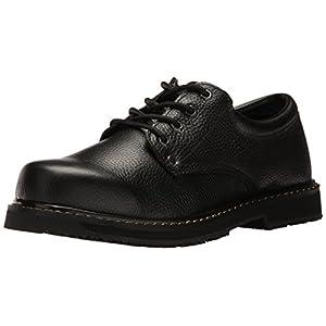 Dr. Scholl's Shoes Men's Harrington II Work Shoe, Black Leather, 10.5 W US