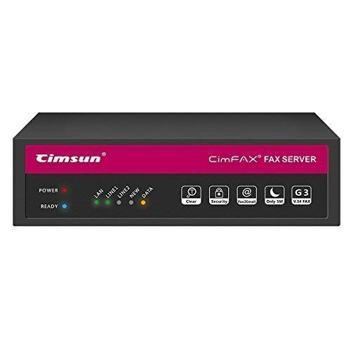 CimFAX T5 Fax Server Two-Port Fax2email Remote login All-in-one Fax System 200 Users Send/Receive Fax from PC/Phone/Mac V.34 High Speed Fax Modem (8GB)