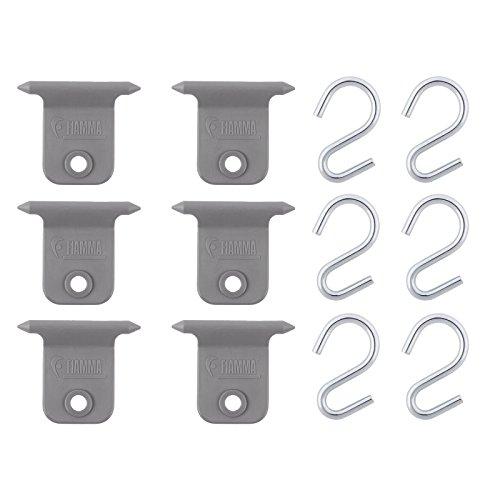Markisen S-Haken Set für Fiamma & Omnistor 7 mm Kederschiene Hangers Kit (6)