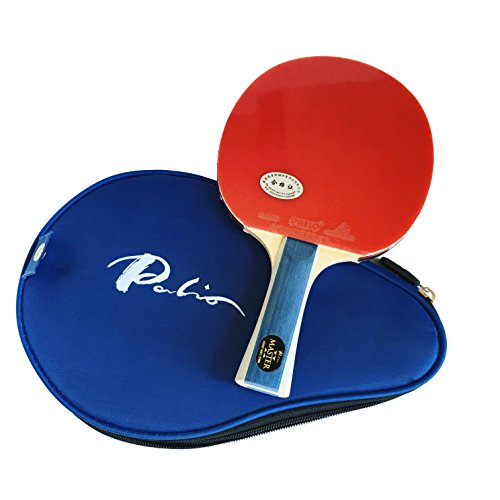 Palio Master 2.0 Table Tennis Racket & Case - ITTF Approved - Flared - Intermediate Ping Pong, Racket, Paddle