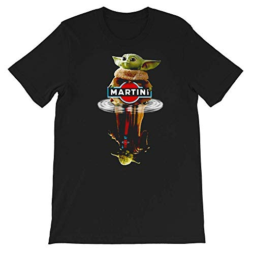 #Star #Wars Movies Baby #Yoda Reflection Water #Yoda Martini Shirt Gift Graphic Unisex T-Shirt