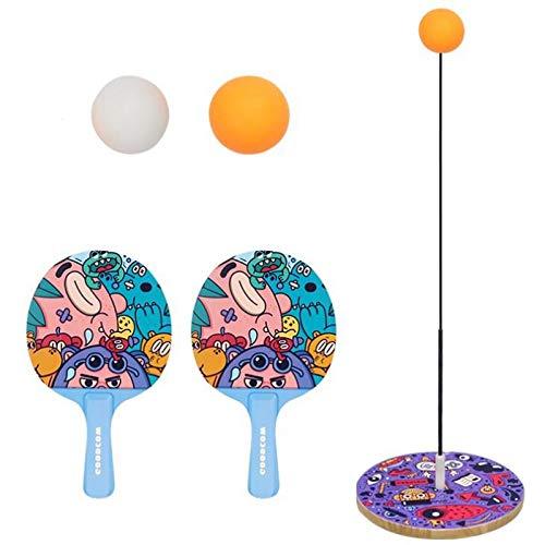 PQZATX Indoor Tisch Tennis Trainings Ger?Te SCHL?Ger Kinder Tisch Tennis üBen Indoor Sport Spiele FrüHer Ziehung