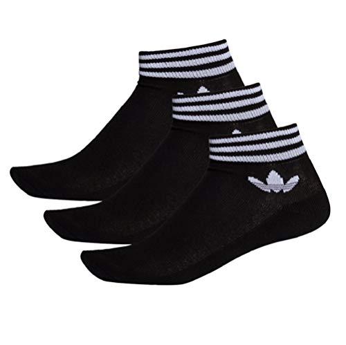 adidas Trefoil Ankle SCK HC Socks Socken 3er Pack (43-46, black/white)
