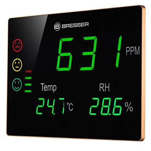 Bresser CO²-Messgerät Smile XXL mit großer Anzeige für aktuelle Kohlendioxidkonzentration, Temperatur und Luftfeuchtigkeit