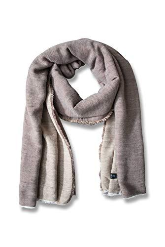 BERTONI Made in Italy Großer Schal Deckenschal Pashmina - Winter Herbst Schal für Damen & Herren 11% Alpaka & Wolle