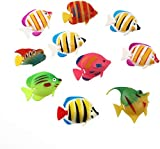 ROSENICE 10pcs Artificial Moving Floating Fishes Ornament Decorations for Aquarium