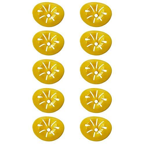 FANKUNYIZHOUSHI Wespenfalle Bienenfänger Fallen Hornetten Flaschenfänger gelb Trichter Falle Feind Fliegen Bienen Horneten Insektenfänger 10 Stück