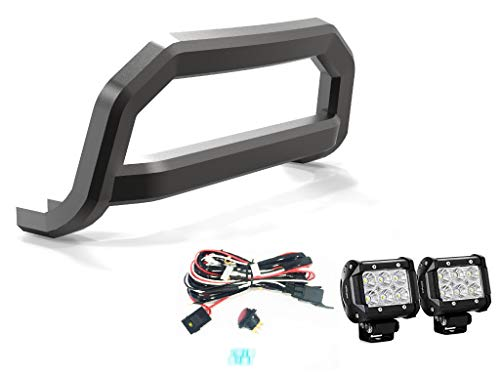 VANGUARD Black Powdercoat Optimus Sport Bar 2.5in Cube LED Kit | Compatible with 08-19 Nissan Rogue