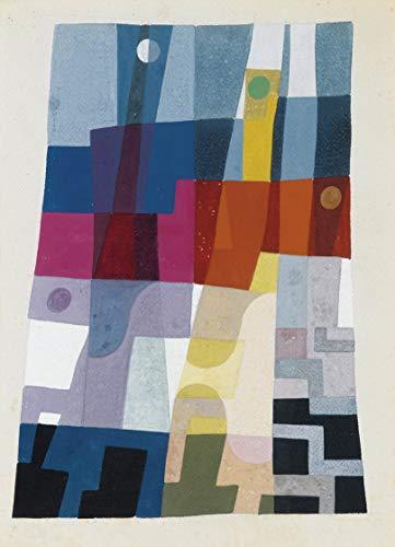 Berkin Arts Sophie Taeuber ARP Giclee Auf Leinwand drucken-Berühmte Gemälde Kunst Poster-Reproduktion Wand Dekoration(Zusammensetzung) Große größe 71.6 x 99.1cm #EDFB
