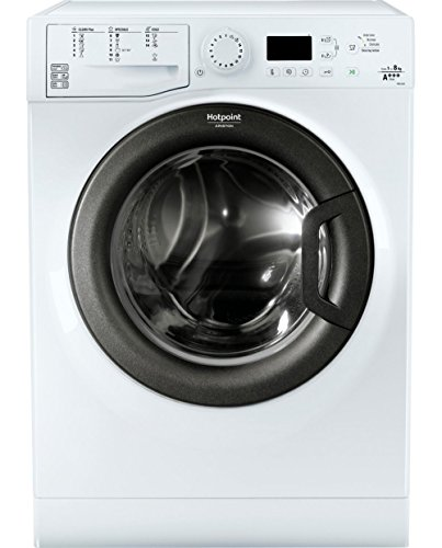 Hotpoint FMG 923B IT Independiente Carga frontal 9kg 1200RPM A+++ Blanco - Lavadora (Independiente, Carga frontal, Blanco, Botones, Giratorio, Izquierda, Negro)