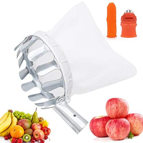 Bakiauli Raccoglitori di Frutta,Basket Catcher di Frutta di Metallo con Cappuccio Protettivo in Tessuto Strumenti per la Raccolta della Frutta