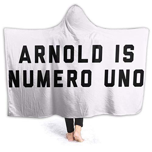 shenguang Manta con Capucha Arnold Schwarzenegger Arnold is Numero Uno, Gorra de Camionero Whiteblack Super Soft Fleece Flannel Throw B