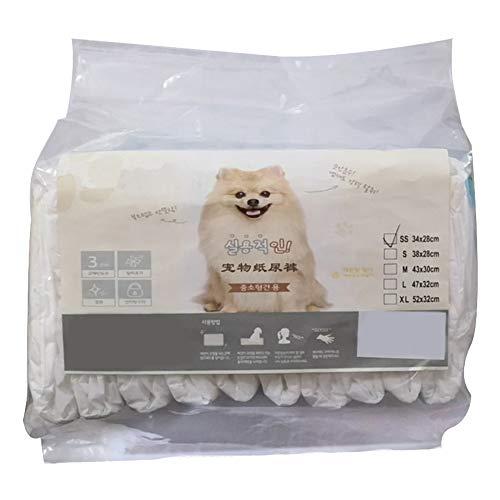 Etophigh 10 Stks/zak Super-absorberende huisdier wegwerpluiers Ultra bescherming Vrouwelijke hond Luier Fysiologische Shorts Sanitair Katoen Ondergoed, XL