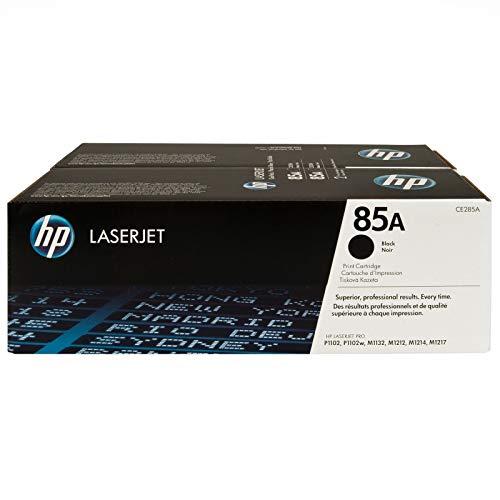 HP CE285AD - Cartucho de tóner original LaserJet HP 85A, negro (paquete de 2)