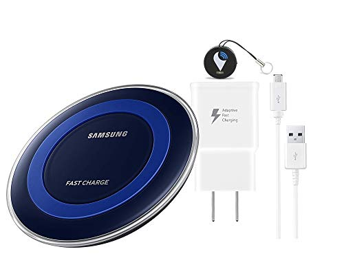 Samsung Qi Certified Fast Charge Wireless Pad Charger - with Item Fast Wall Charger & Item Tracker (Non Retail Packing)