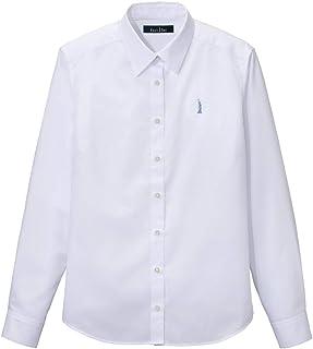 [イーストボーイ?スクール] T/C ポプリンシャツ 9205200 ホワイト×サックス 日本 7 (日本サイズ7 号相当)