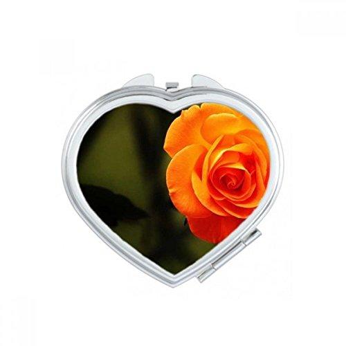 DIYthinker Rose foncé Roses Dim Fleur de Coeur Maquillage Compact Miroir de Poche Miroirs Mignon Petit Cadeau Portable à la Main Multicolor