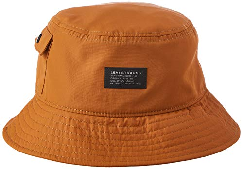 Levi's Pocketed Bucket Hat Sombrero de Copa Baja, Regular Khaki, L para Hombre