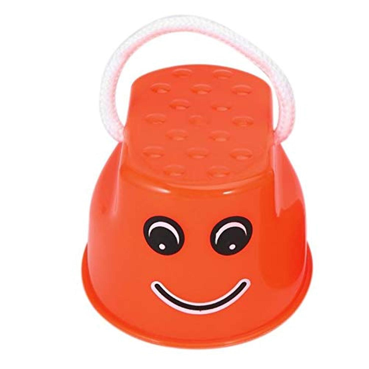 食い違い開梱であることおかしいプラスチック子供キッズ屋外楽しいウォーク高床式ジャンプ笑顔顔パターンスポーツバランストレーニング玩具最高の贈り物