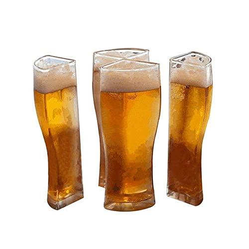 Creative Glass Wine Copas Set 4 en 1 10.5*12.3Cm Super Sailing Boat Transparente Cerveza Botella Cristal Esqueleto Botella de Vino Tinto Vidrio Whisky