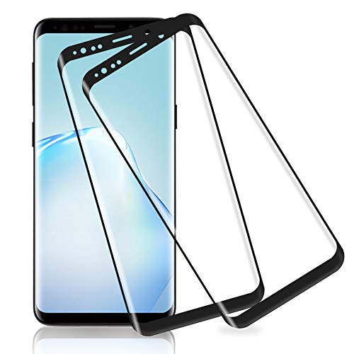 wsky Panzerglas Schutzfolie für Samsung Galaxy S9 [2 Stück], 3D Volle Abdeckung, 9H Härtegrad, Anti-Scratch, Fallfreundlich, Einfache Montage, Ultra HD Displayschutzfolie für Samsung Galaxy S9